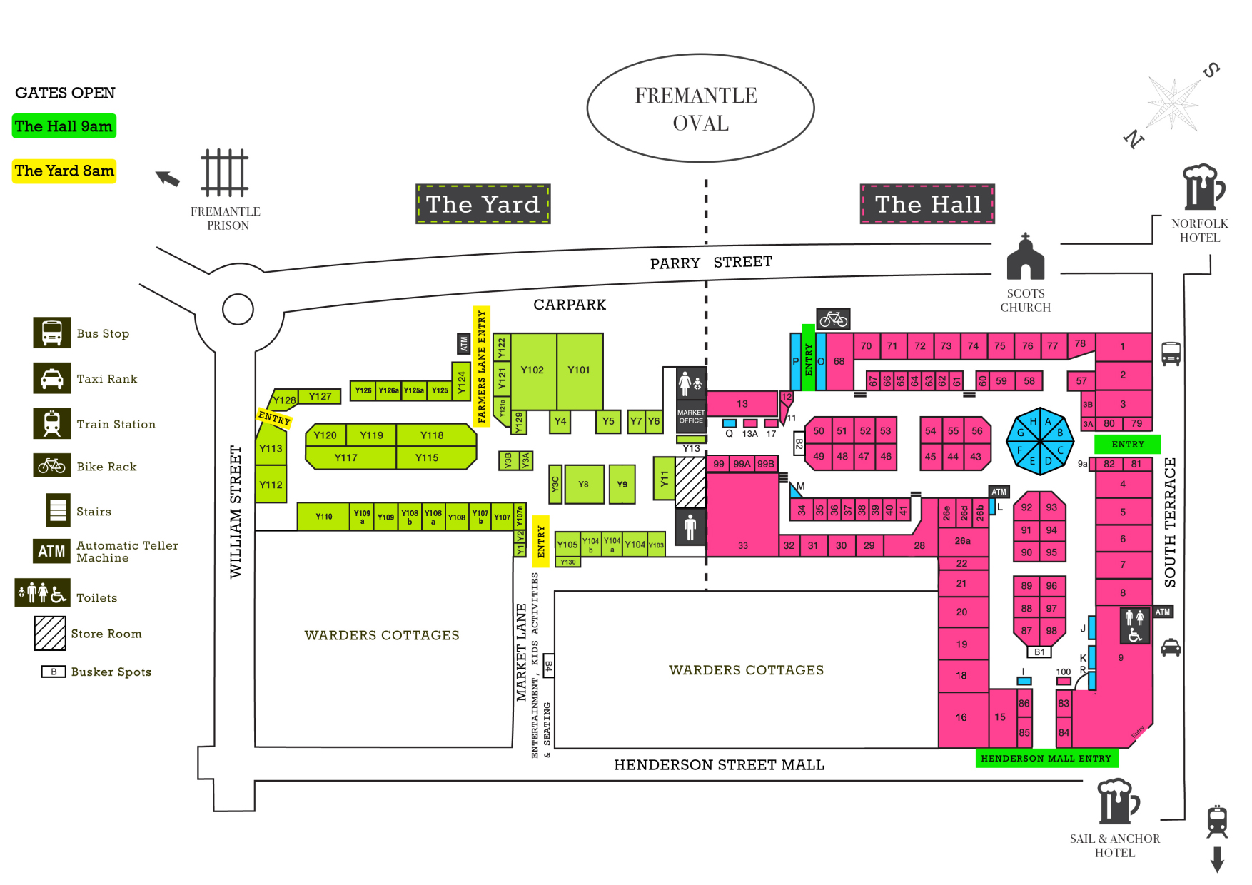 Interactive Map Fremantle Markets